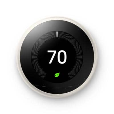 Nest Learning Thermostat - Smart Wi-Fi Thermostat - White