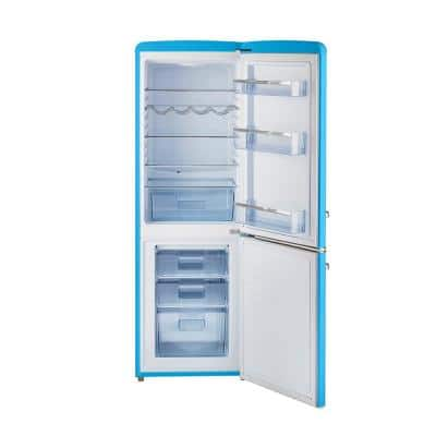 Retro 21.6 in. 7 cu. Ft. Bottom Freezer Refrigerator in Robin Egg Blue, ENERGY STAR