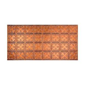 Traditional #10 2 ft. x 4 ft. Glue Up Vinyl Ceiling Tile in Antique Bronze (40 sq. ft.)