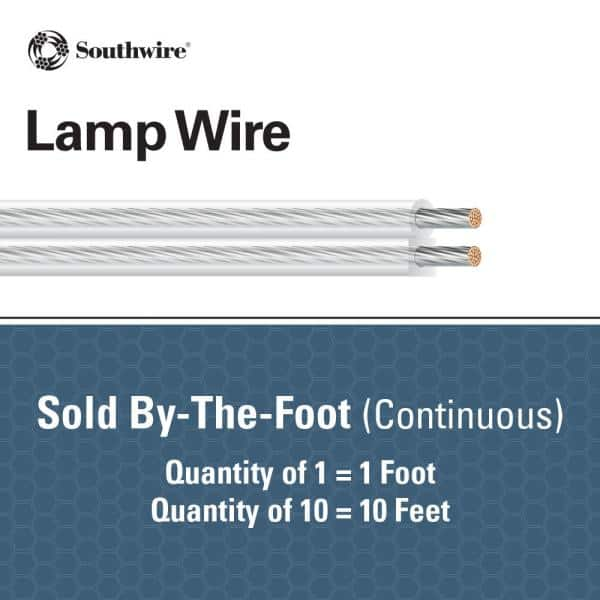 250ft Details about  / Spectrum SPT-1 Brown 18//2 Lamp Cord Copper Wire Roll #18 AWG Gauge