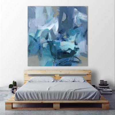 """54 in. x 54 in. """"Abstract Blues II"""" by Christina Long Wall Art"""