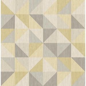Puzzle Yellow Geometric Yellow Wallpaper Sample