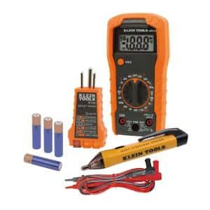 Test Kit with Multimeter, Non-Contact Volt Tester, Receptacle Tester