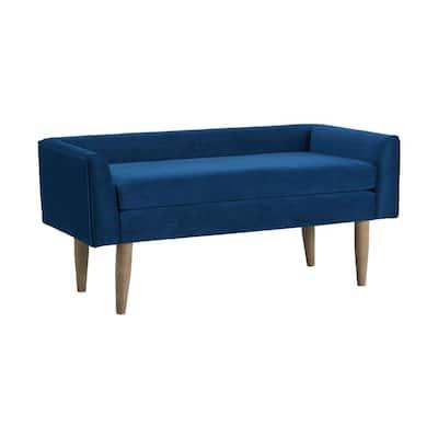 Bella Blue Upholstered Bench