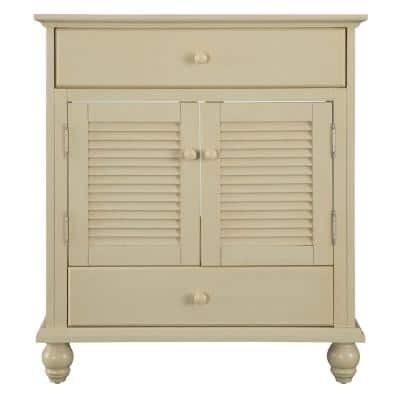 Cottage 30 in. W Bath Vanity Cabinet Only in Antique White