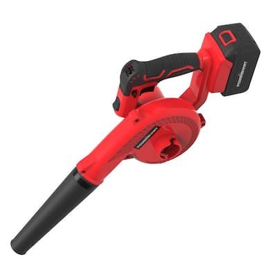 145 MPH 20-Volt 100 CFM Cordless Handheld Plastic Blower and Vacuum