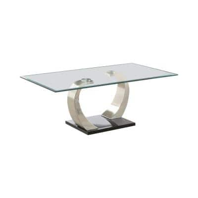 Coaster Home Furnishings Round White and Chrome Nesting Coffee Table