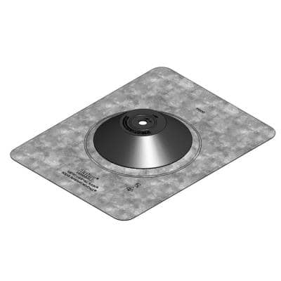 Aurora No-Calk 9-1/2 in. x 12-1/2 in. Solar Vent Pipe Roof Flashing with 1/2 in. - 1-1/2 in. Adjustable Diameter