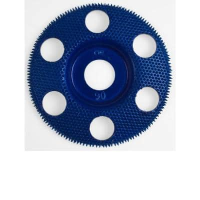 King Arthur S Tools 4 In Flat Blue Coarse 90 Grit Disc For Woodworking 47871 Fcb The Home Depot