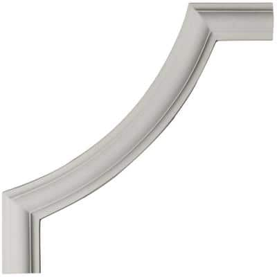 12 in. x 1/2 in. x 12 in. Urethane Ashford Smooth Panel Moulding Corner (Matches Moulding PML01X00AS)
