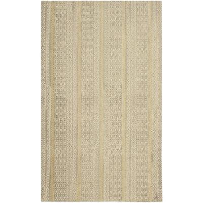 Heidi Stonewashed Beige/Brown 4 ft. x 6 ft. Distressed Moroccan Area Rug