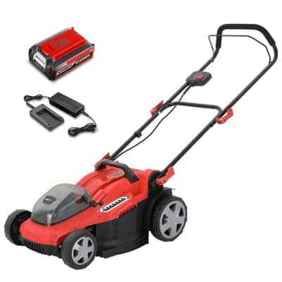 16 in. 40-Volt Cordless Battery Hand Walk Behind Push Mower with Battery/Charge Included