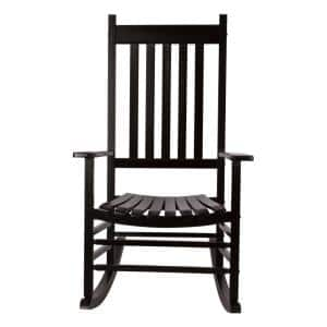 Vermont Black Wood Outdoor Porch Rocker