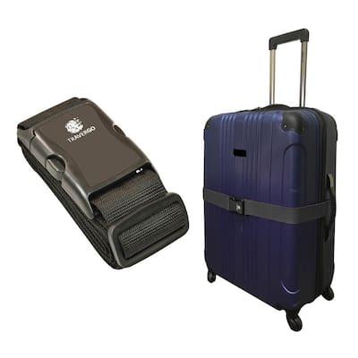 Luggage Strap Solid Color in Black