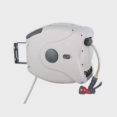 100 ft. 5/8 in. Retractable Garden Hose Reel XW Series Spray Nozzle Not Included