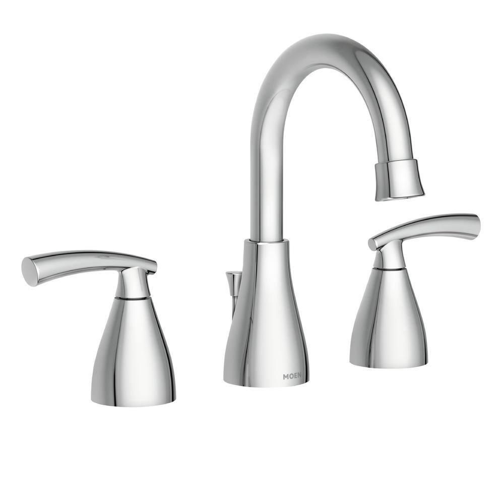moen widespread bathroom faucet chrome