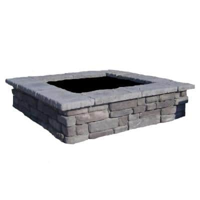 60 in. Random Gray Square Concrete Planter