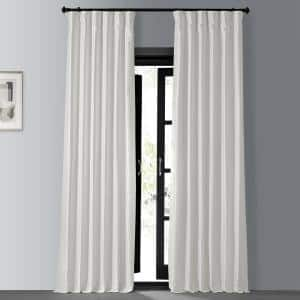 Off White Textured Rod Pocket Blackout Curtain - 50 in. W x 108 in. L