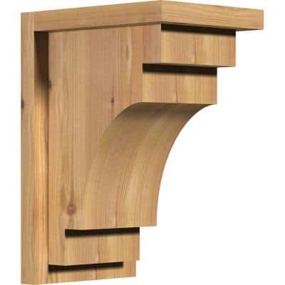 7-1/2 in. x 10 in. x 14 in. Mediterranean Smooth Western Red Cedar Corbel with Backplate