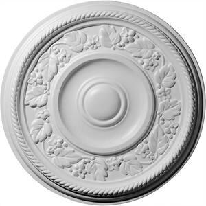 16-1/8'' x 3/4'' Tyrone Urethane Ceiling Medallion (Fits Canopies upto 6-3/4''), Primed White