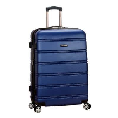 Melbourne 28 in. Blue Expantable Hardside Dual Wheel Spinner Luggage