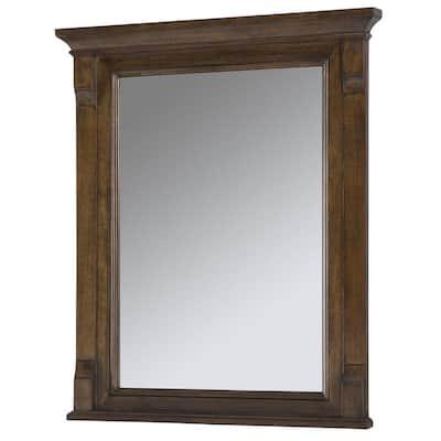 Creedmoor 26 in. W x 31 in. L Single Wall Hung Mirror in Walnut