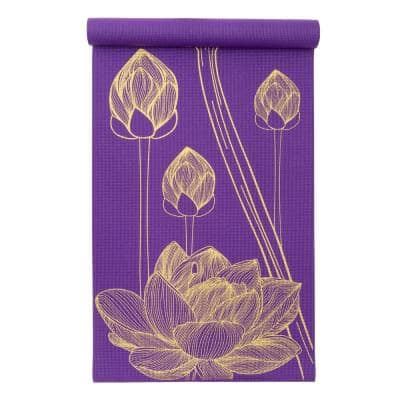 Floret 72 in. L x 24 in. W x 3/16 in. T Inspired Design Print Yoga Mat Non Slip (12 sq. ft.)