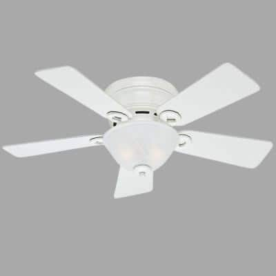Conroy 42 in. Indoor White Low Profile Ceiling Fan with Light Kit