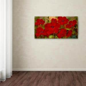 24 in. x 47 in. ''Poppies'' by Rio Printed Canvas Wall Art