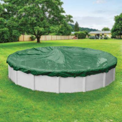 Titan 15 ft. Round Green Solid Above Ground Winter Pool Cover