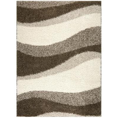 Synergy Gray/Off White 5 ft. x 7 ft. Indoor Area Rug