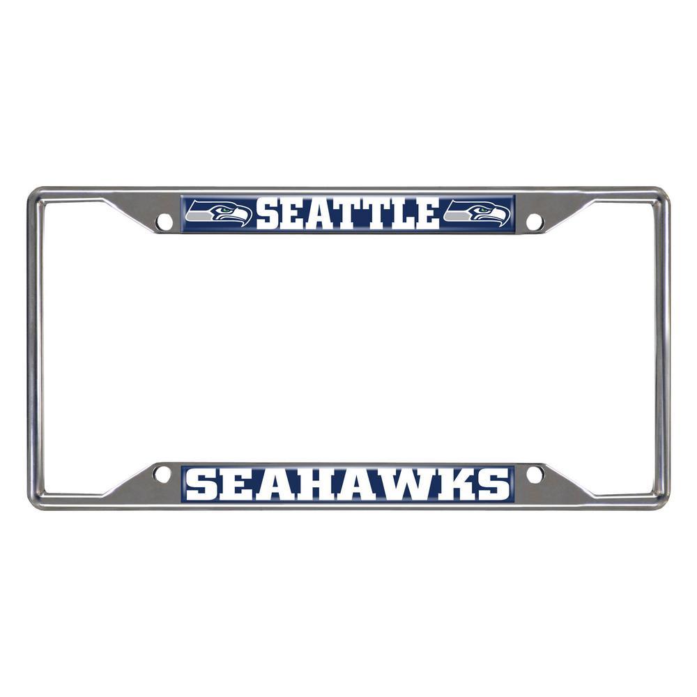 NFL - Seattle Seahawks Chromed Stainless Steel License Plate Frame