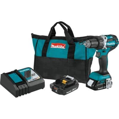 18-Volt LXT Lithium-Ion Compact Brushless Cordless 1/2 in. Driver-Drill Kit w/ (2) Batteries (2.0Ah), Charger, Bag