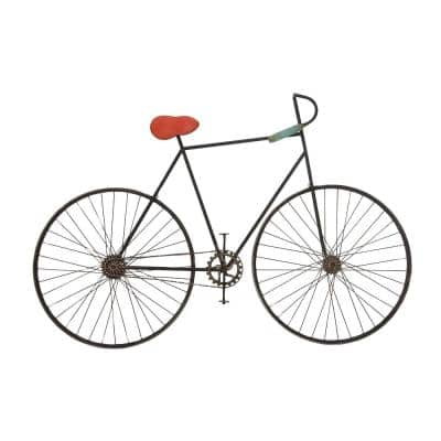 Traditional 37 in. x 56 in. Vintage Iron Bicycle Wall Decor