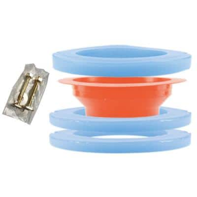 Sticky Elastomer Toilet Gasket Kit with Extension and Bolts