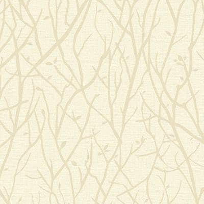 Advantage Kaden Champagne Branches Paper Strippable Wallpaper Covers 57 8 Sq Ft 2811 Sy33023 The Home Depot