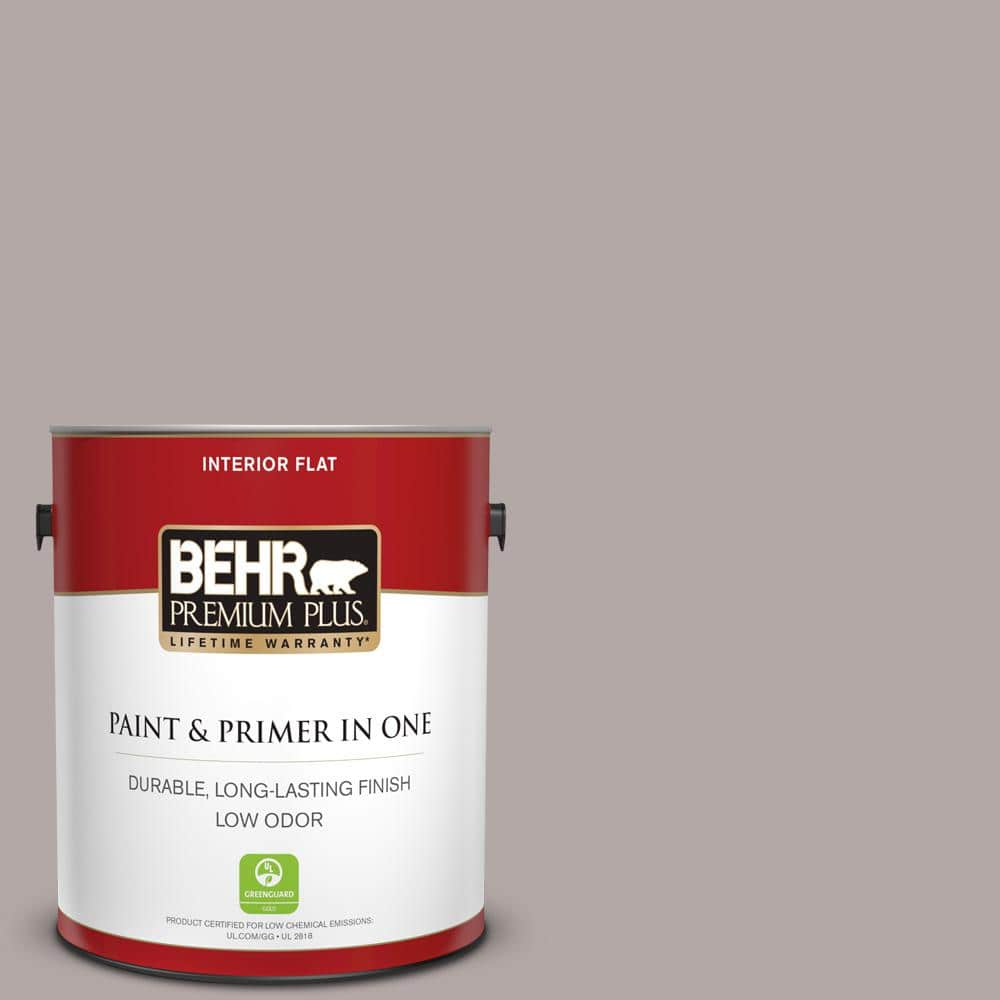 Reviews For Behr Premium Plus 1 Gal N140 3 Metropolis Flat Low Odor Interior Paint And Primer In One 140001 The Home Depot