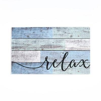 Relax Individual Wooden Wall Sign
