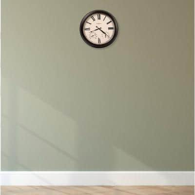 Howard Miller Aspen Worn Black and Off White Outdoor Wall Clock