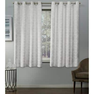Vanilla Woven Thermal Blackout Curtain - 54 in. W x 63 in. L (Set of 2)