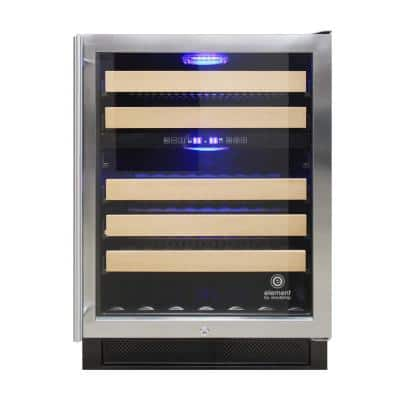 Connoisseur Series 46 Bottle Dual Zone Wine Cooler in Stainless Steel