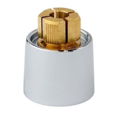 Short Metal Faucet Handle Skirt Adapter, Polished Chrome