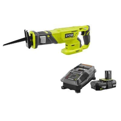 18-Volt ONE+ Cordless Reciprocating Saw with 2.0 Ah Battery and Charger Kit
