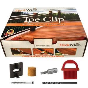 Extreme4 Ipe Clip Black Biscuit Style Hidden Deck Fastener Kit for Hardwoods (175-Pack)
