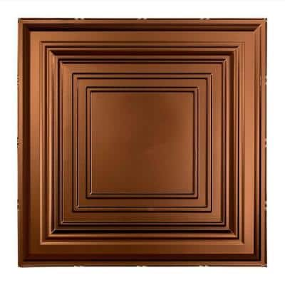 Traditional #3 2 ft. x 2 ft. Oil Rubbed Bronze Lay-In Vinyl Ceiling Tile ( 20 sq.ft. )