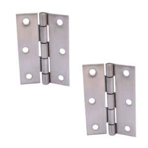 3 in. Stainless Steel Non-Removable Pin Narrow Utility Hinge (2-Pack)