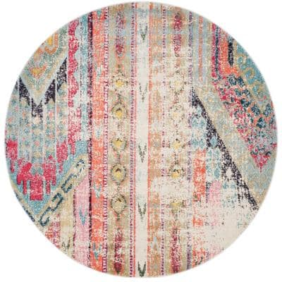 Monaco Multi 5 ft. x 5 ft. Round Area Rug