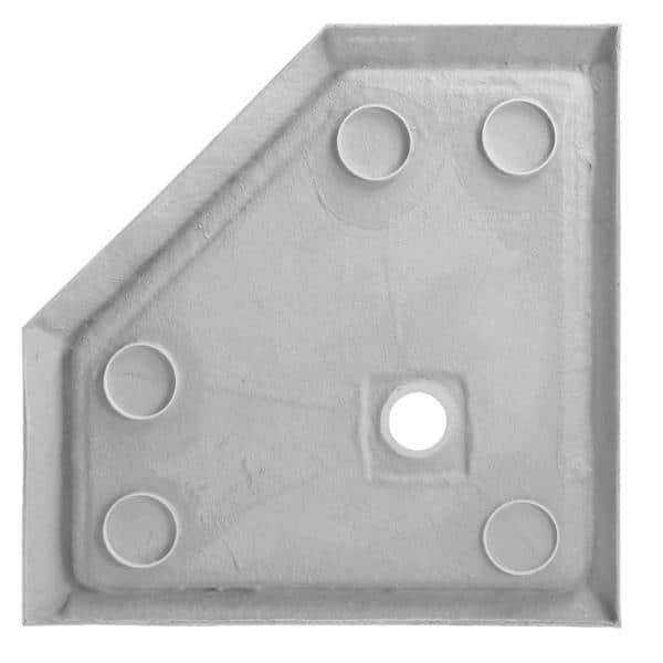 Foremost 38 In X 38 In Single Threshold Neo Angle Shower Base In White 3838na W The Home Depot