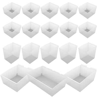 Probin Slatwall Clear Storage Bin Kit (18-Pack)