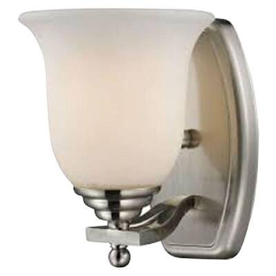 Lawrence 1-Light Brushed Nickel Incandescent Bath Vanity Light